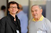 Prof. d'Adda di Fagagna con Leonard Hayflick